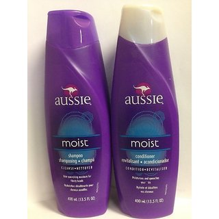 Aussie Moist Shampoo and Conditioner 13.5oz COMBO set Package May Vary
