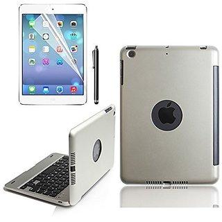 KVAGO 7.9 inch iPad mini Keyboard Case Flip Cover Alumium Alloy Hard Plastic Shell Stand Folio Case with Bluetooth Keybo
