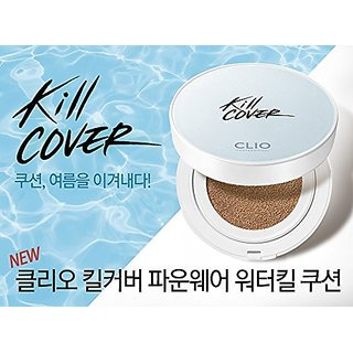 Clio Kill Cover Founwear Water Kill Cushion SET with Refill Limited Edition (2-BP (Lingerie))
