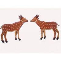 Feng Shui Wooden Deer - Pair