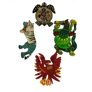 Fengshui Auspicious Wooden Animal Set for four directions - Feng Shui Product