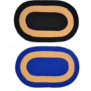 SS Set of 2 Attractive Oval Shaped Door Mat
