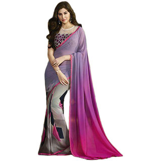 Genius Creation Bollywood Georgette Printed Multicolor Saree