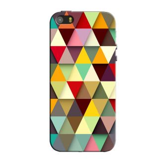 MULTI DIGITAL TRIANGLES  BACK COVER FOR NEW IPHONE 5