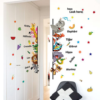 Oren Empower Multicolor Educational Wall Stickers for kids (Finished Size on Wall - 76 cm  X 70 cm)