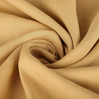 Denis  Di-100 Linen Men's Shirting Fabrics/Ochre Colour (A Brand of Master linens Inc/Authentic French Linen)