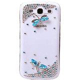 Kolorfish Diamond Butterfly Back Case For Samsung S3