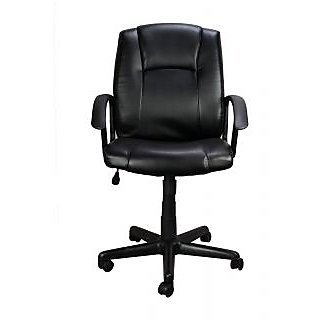 RINGABELL LOW BACK REVOLVING CHAIR WITH ARM (BLACK)
