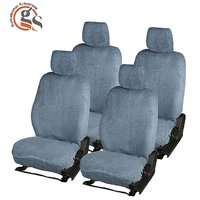 GS-Sweat Control Grey Towel Car Seat Cover For Ford Iko