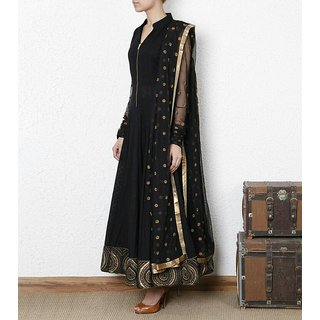 Edeal Online Black Georgette Anarkali Drees