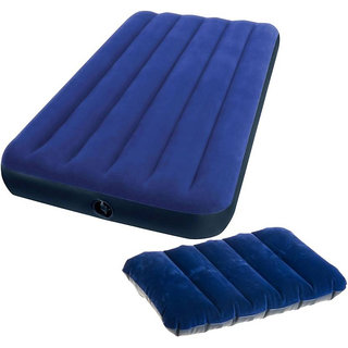 Gold Dust's Intex Air Lock Pillow with Single Inflatable Bed Mattress