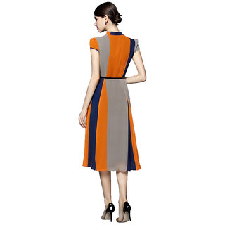 Stylezone Stylish Multicolour Georgette Kurti with Inner  - Atta