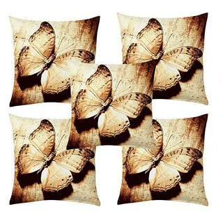 Home Diva Multicolor Polyester Digital print Cushion Covers Set of 5- (HDCC003)