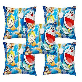 Home Diva Multicolor Polyester Digital print Cushion Covers Set of 5- (HDCC011)