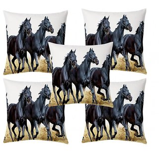 Home Diva Multicolor Polyester Digital print Cushion Covers Set of 5- (HDCC013)