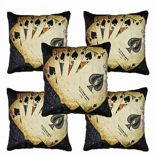 Home Diva Multicolor Polyester Digital print Cushion Covers Set of 5- (HDCC021)