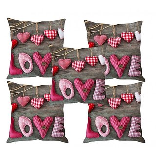 Home Diva Multicolor Polyester Digital print Cushion Covers Set of 5- (HDCC022)