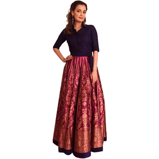 Surat Tex Pink  Gold Color Party Wear Semi-Stitched Digital Print Banglori Lehenga Choli With Heavy Designer Banglori T