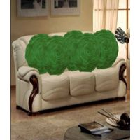 Hard Rock Set Of 5 Attractive Circle Rose Design Cushion Cover-green