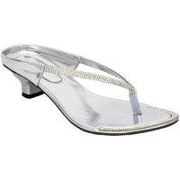 Altek Designer Kitten Heel Silver Sandal (s1318-silver)