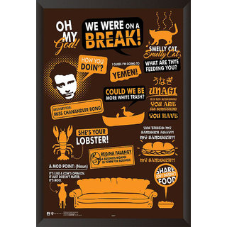 HungOver Friends Quotes Poster Home and Office With Frame Single Piece Size (12x9  Inches)