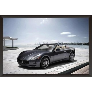 HungOver  Meserati Gran Cabrio Poster  With Frame Single Piece (Size 12 x 9)