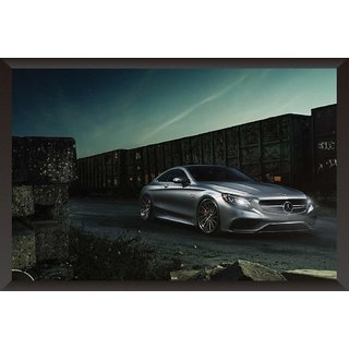 HungOver  Mercedes Poster  With Frame Single Piece (Size 12 x 9)