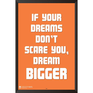 HungOver  Dream Bigger With Frame Single Piece (Size 12 x 9)