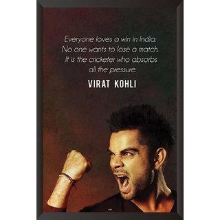HungOver  Virat Kohli Poster  With Frame Single Piece (Size 12 x 9)