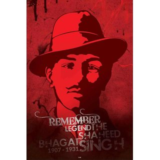 HungOver  Bhagat Singh Poster  Without Frame Single Piece (Size 12 x 9)