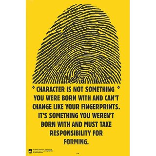 HungOver  Fingerprint Poster  Without Frame Single Piece (Size 12 x 9)