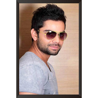 HungOver  Virat Kolhi Poster  With Frame Single Piece (Size 12 x 9)