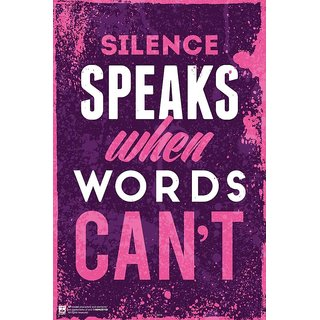 HungOver  Siles Speaks When Words Cant Poster  Without Frame Single Piece (Size 12 x 9)