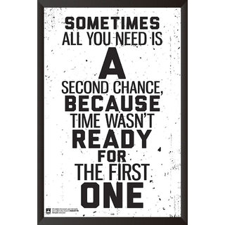 HungOver  All You Need Is A Second Chance Poster  With Frame Single Piece (Size 12 x 9)