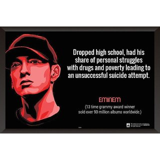 HungOver  Eminem Poster  With Frame Single Piece (Size 12 x 9)