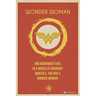 HungOver  Wonder Woman Justice League Poster  Without Frame Single Piece (Size 12 x 9)