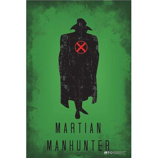 HungOver  Martian Manhunter Justice League Poster  Without Frame Single Piece (Size 12 x 9)