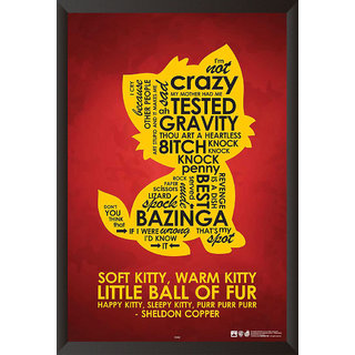 HungOver Sheldon Copper Quotes Poster for Home and Office With Frame Single Piece Size (12x9  Inches)