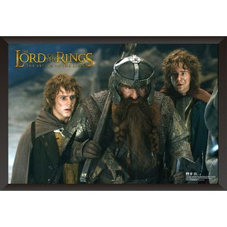 HungOver The Lord of the Ring Poster for Home and Office With Frame Single Piece Size (12x9  Inches)