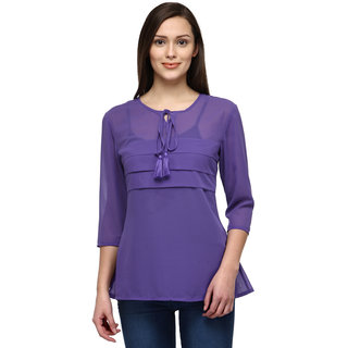 Tunic Nation Women's PURPLE 100 Polyester Top