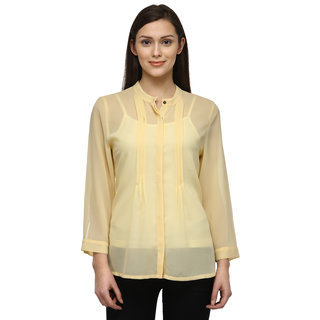 Tunic Nation Women's Yellow 100% Polyester Top