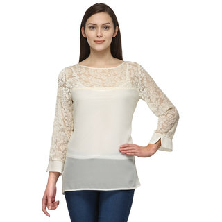 Tunic Nation Women's Fawn 100 Polyester Lace Top
