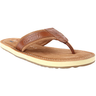 Red Chief Tan classy Leather slippers