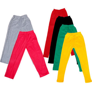 Indistar Girls 2 Cotton Lower and 4 Cotton Legging ( Pack of 6)_Multiple_5-6 Years
