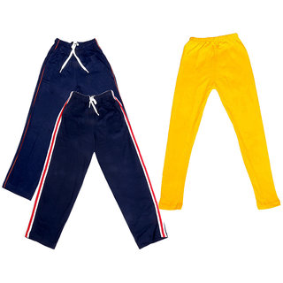 Indistar Girls 2 Cotton Lower and 1 Cotton Legging ( Pack of 3)_Multiple_5-6 Years