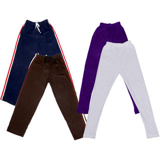 Indistar Girls 2 Cotton Lower and 2 Cotton Legging ( Pack of 4)_Multiple_5-6 Years