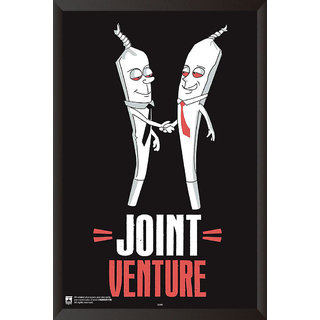 HungOver  Joint Venture Poster  With Frame Single Piece (Size 12 x 9)