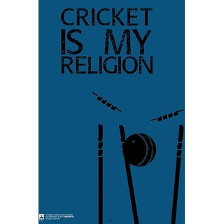 HungOver  Cricket Is My Religion Poster  Without Frame Single Piece (Size 12 x 9)