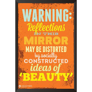 HungOver  Warning Poster  With Frame Single Piece (Size 12 x 9)