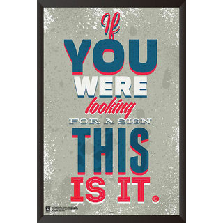 HungOver  If You Were Looking For A Sign, This Is It Poster  With Frame Single Piece (Size 12 x 9)